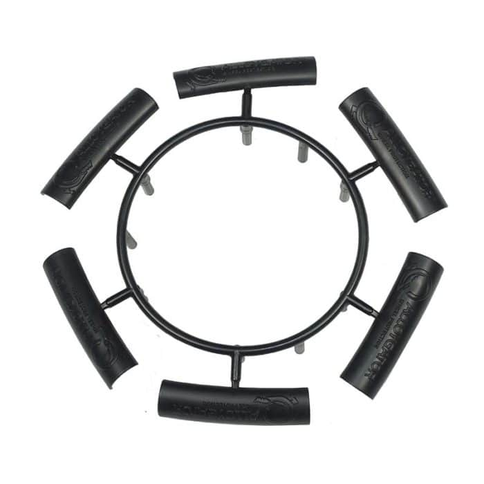 View of 6 x Black Joining Clips For AlloyGator Wheel Protectors