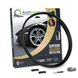 Single Replacement AlloyGator Exclusive Alloy Wheel Rim Protectors---Exclusives---Black