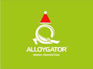AlloyGator Festive Christmas Logo with Santa Hat Gift Card Design
