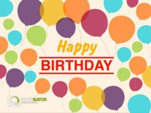 AlloyGator Happy Birthday Balloons Gift Card Design