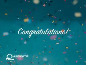 AlloyGator Congratulations Confetti Gift Card Design