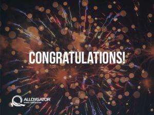 AlloyGator Congratulations Firework Gift Card Design