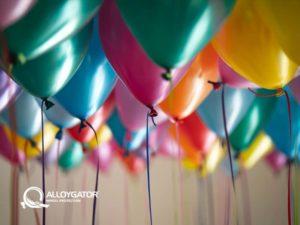 AlloyGator Celebration Balloons Gift Card Design