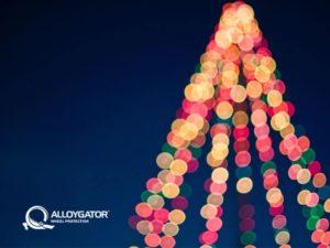 AlloyGator Festive Christmas Tree Lights Gift Card Design
