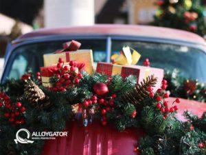 AlloyGator Festive Christmas Car Decoration Gift Card Design