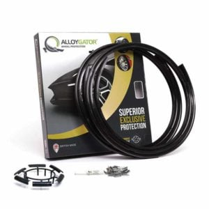 Black AlloyGator Alloy Wheel Rim and Tyre Protector - (12 to 24 Inch : 31 - 60cm)